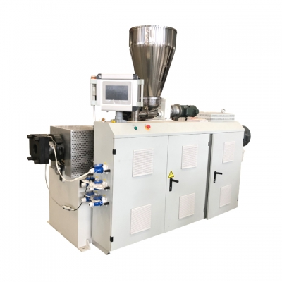 SJSZ55/110 twin screw extruder with PLC control